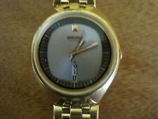 #296 mans gold plate Seiko day/date automatic watch