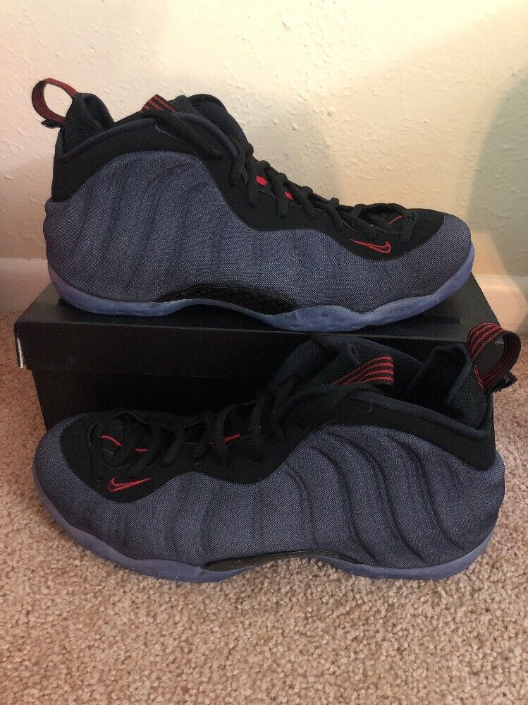 buy online 92d59 0647a Nike Air Foamposite One Denim Men s Sz 10 Obsidian Obsidian Obsidian Black (314996  404)