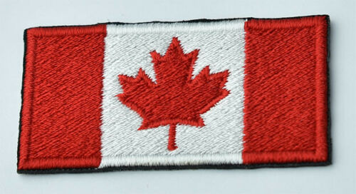 Flag of Canada Iron on Sew Hook Patch