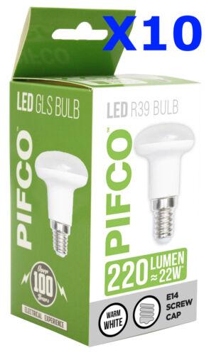 XX LED 3W R39 E14 240LM REFLECTOR WARM WHITE BULB X 10 BULB