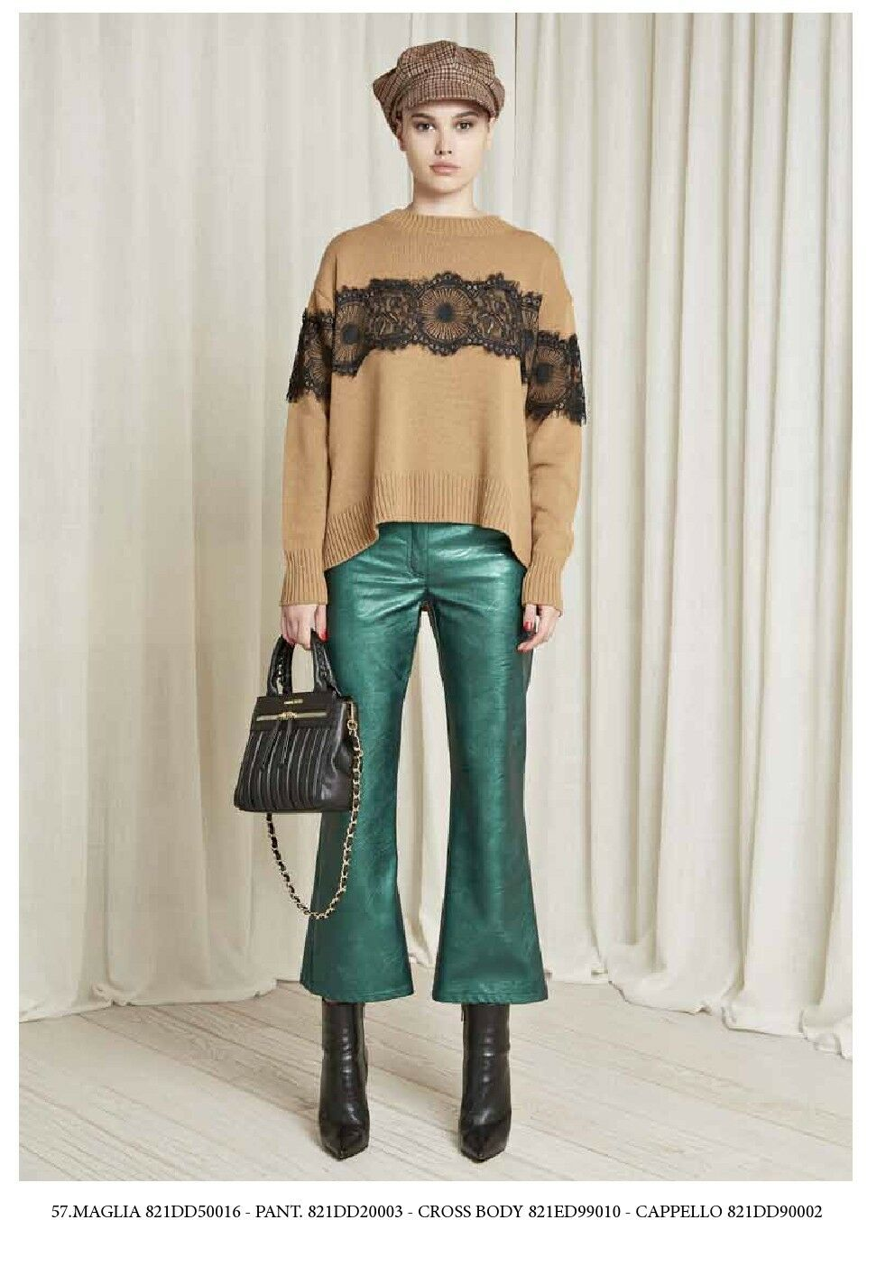 Outlet -60% 821DD20003 Denny pink trousers Autumn Winter 2018 disp