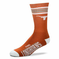 Texas Longhorns Crew Socks Large Size 10 To 13 4 Stripe