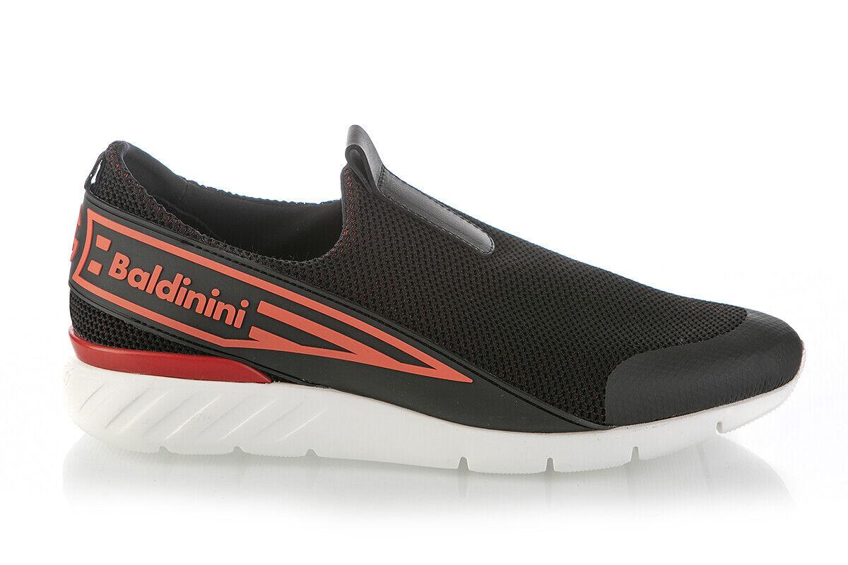 Authentic Baldinini Leather scarpe da ginnastica nero New Italian Dimensiones 6,7,8,9,10,11