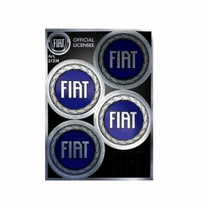 Adesivo Copriruota per Fiat Blu Ufficiale 4 Loghi da 48 mm, 95 x 130 mm