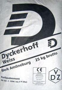 gp 0 84 kg 25 kg dyckerhoff weisszement zement. Black Bedroom Furniture Sets. Home Design Ideas