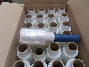 48 X Mini Pratique Wrap Stetch Wrap Clair 100 Mm X 150m Avec Poignée-afficher Le Titre D'origine