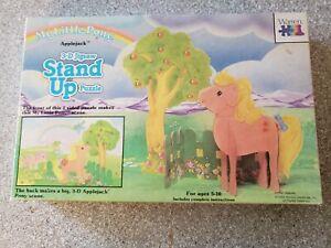 Mlp My Little Pony Vintage G1 Applejack 3 D Stand Up Jigsaw Puzzle 2 Sided Ebay