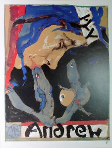 Horst Janssen-Andrew (1994) esposizione manifesto/offset firmato a mano.
