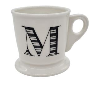 Anthropologie-M-Monogram-Mug-Initial-Letter-Coffee-Cup-Shaving-Stoneware