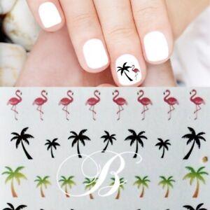 Nail Art Sticker Nailart Palmen Flamingo Nagelsticker Tattoo