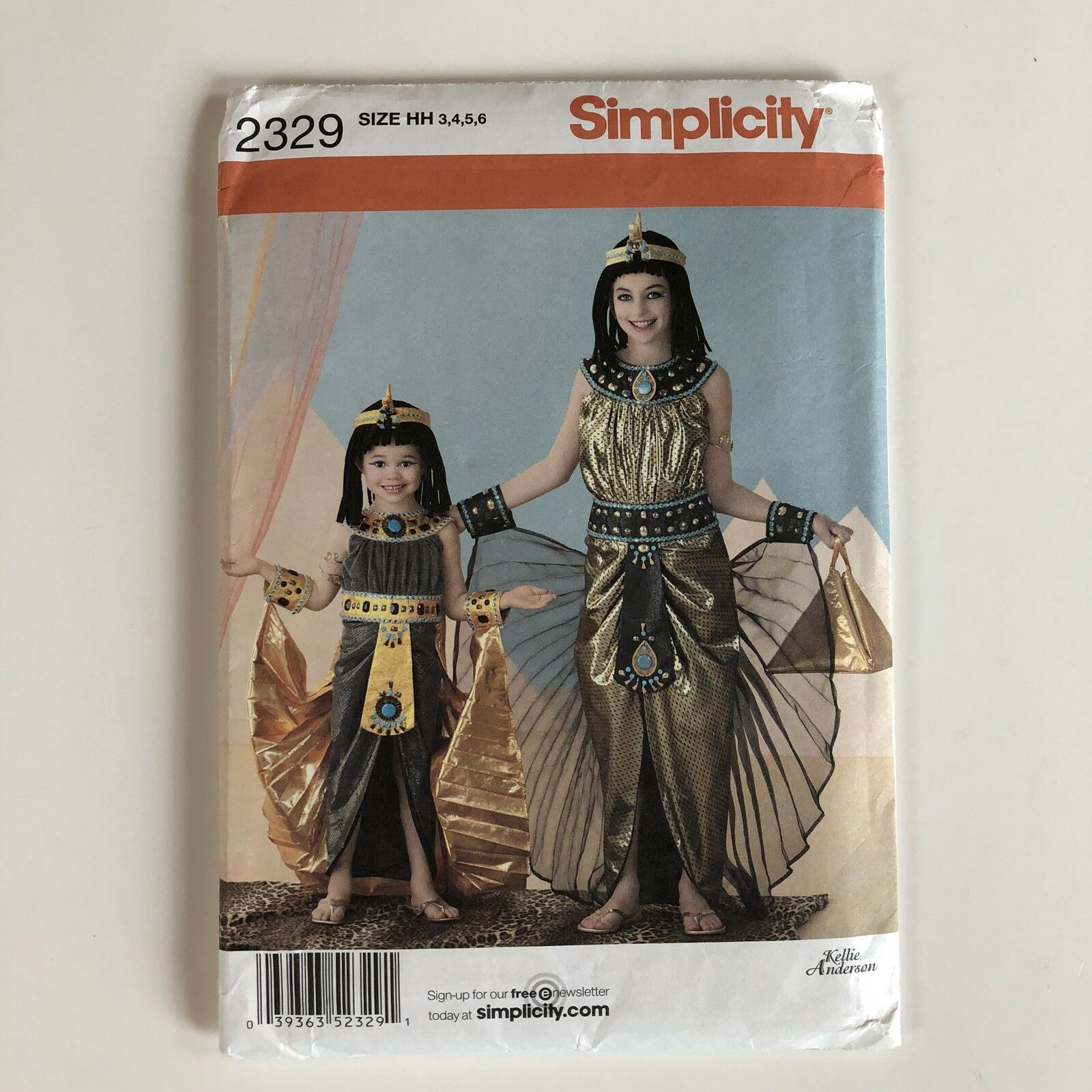 3-4-5-6 HH Simplicity Sewing Pattern 2329 Childs and Girls Costumes