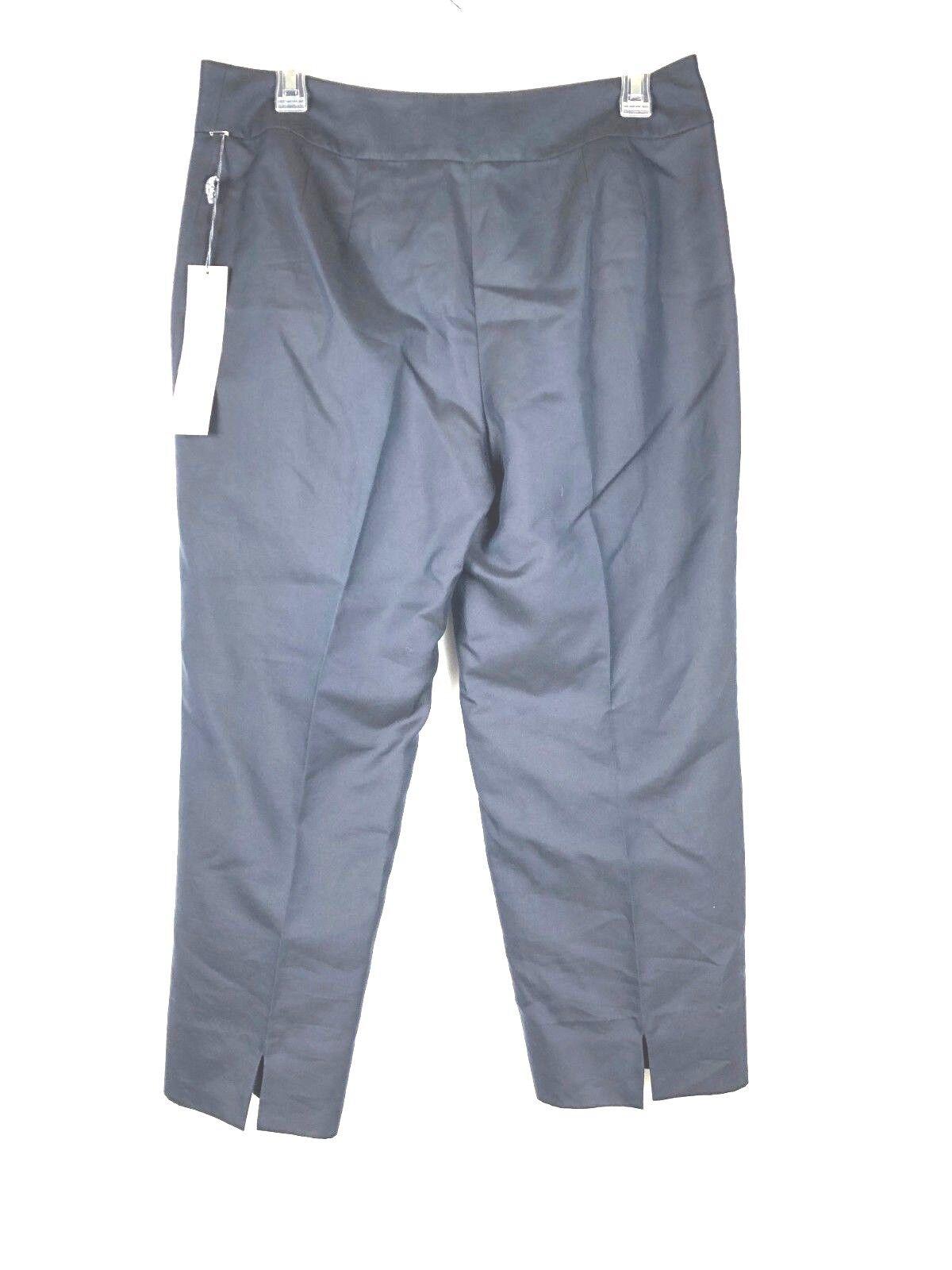 Ann Taylor NWT damen Capri Crop Pants Siz 8 Dark Blau lined Cotton silk Blend 93