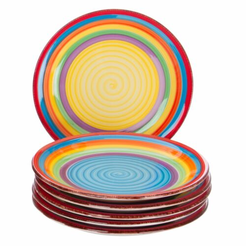Kuchentellerset Ibiza kl Frühstücksteller Dessertteller bunte Farben 6-tlg