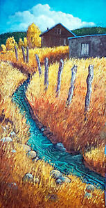 DonnaClairArt-ACEQUIA-24-034-X12-034-Orig-Oil-Painting-Framed