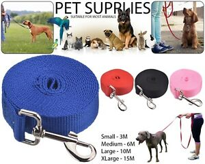 Pet-Dog-Training-Lead-Puppy-Leash-Collar-Harness-Long-Line-Strong-Rope-3M-6M-15M