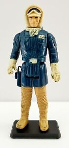 Vintage 1980 Kenner Star Wars Han Solo Hoth Action Figure Hong Kong Incomplete