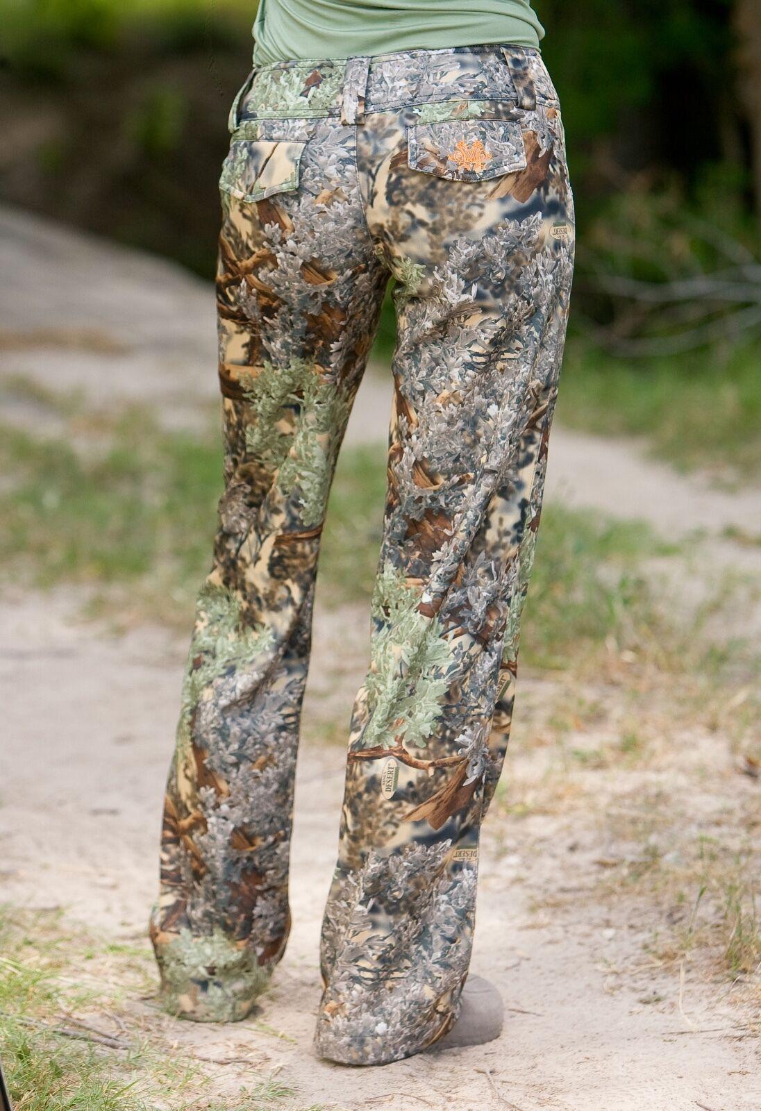 Haley Vines para Mujer Camuflaje Camo Caza Pantalón   Reyes Del Desierto regular