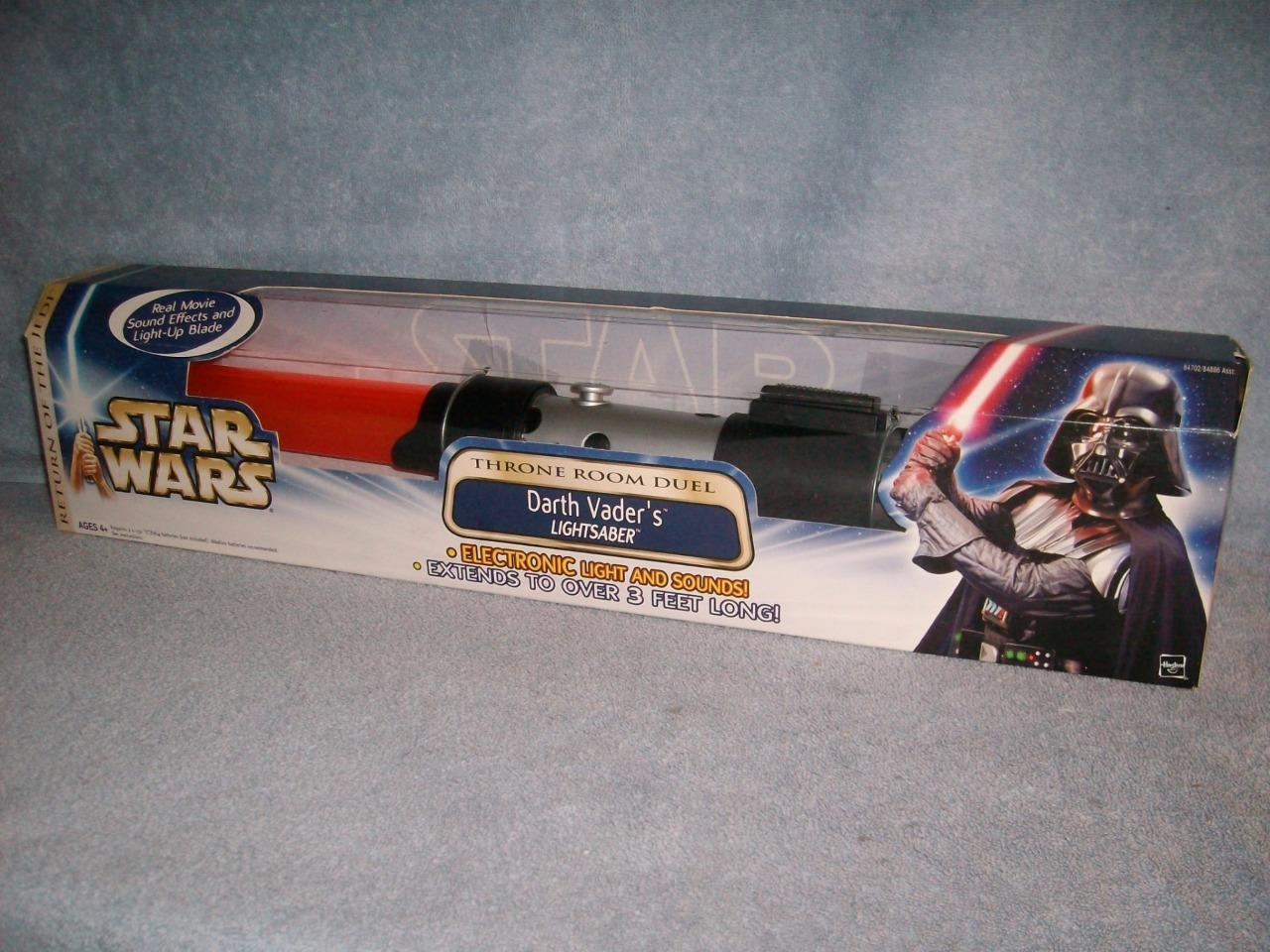 Darth Vader ROT Lightsaber Throne Room Duel Electronic Lights Sounds 2003 New