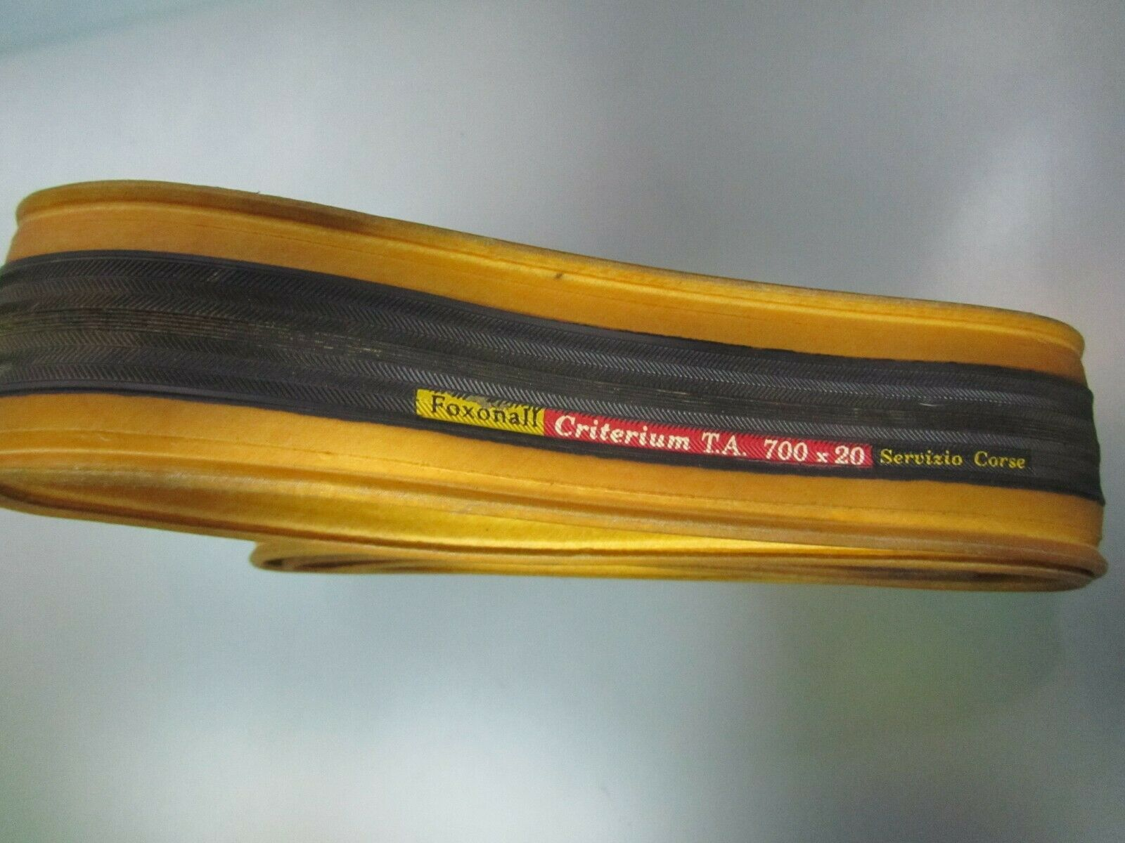 Vintage Foxonall Criterium T.A. 700x20 clincher tire. Very rare. NOS
