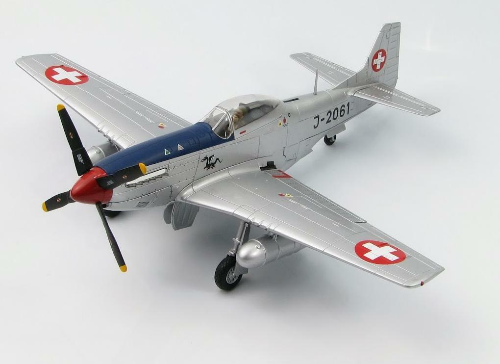 P-51D Mustang J-2061, FISt 16  Swiss Air Force  1949 (Hobby Master 1 48  HA7725)