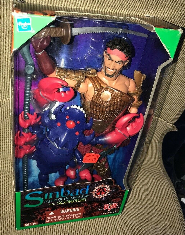 New 2002 Hasbro GI Joe Sinbad Legend Of 7 Seas Vs Scorpius Action Figure