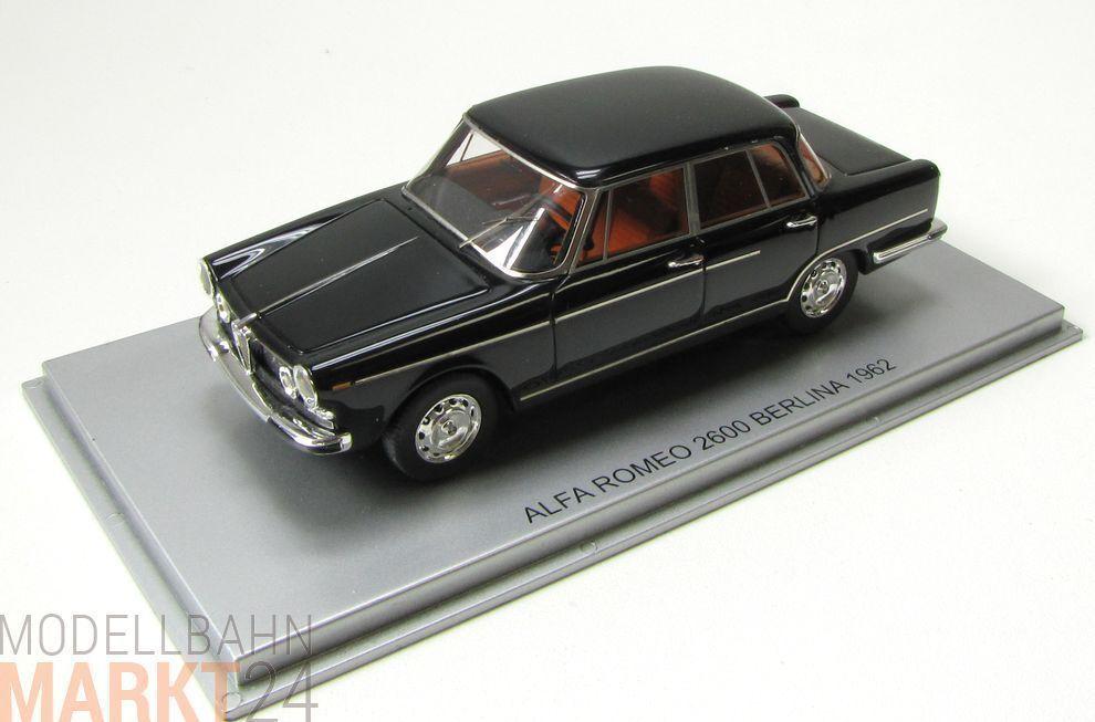 KESS Afla Romeo 2600 Berlina 1962 black black black Chrom Modell im Maßstab 1 43 - OVP b1e6fc