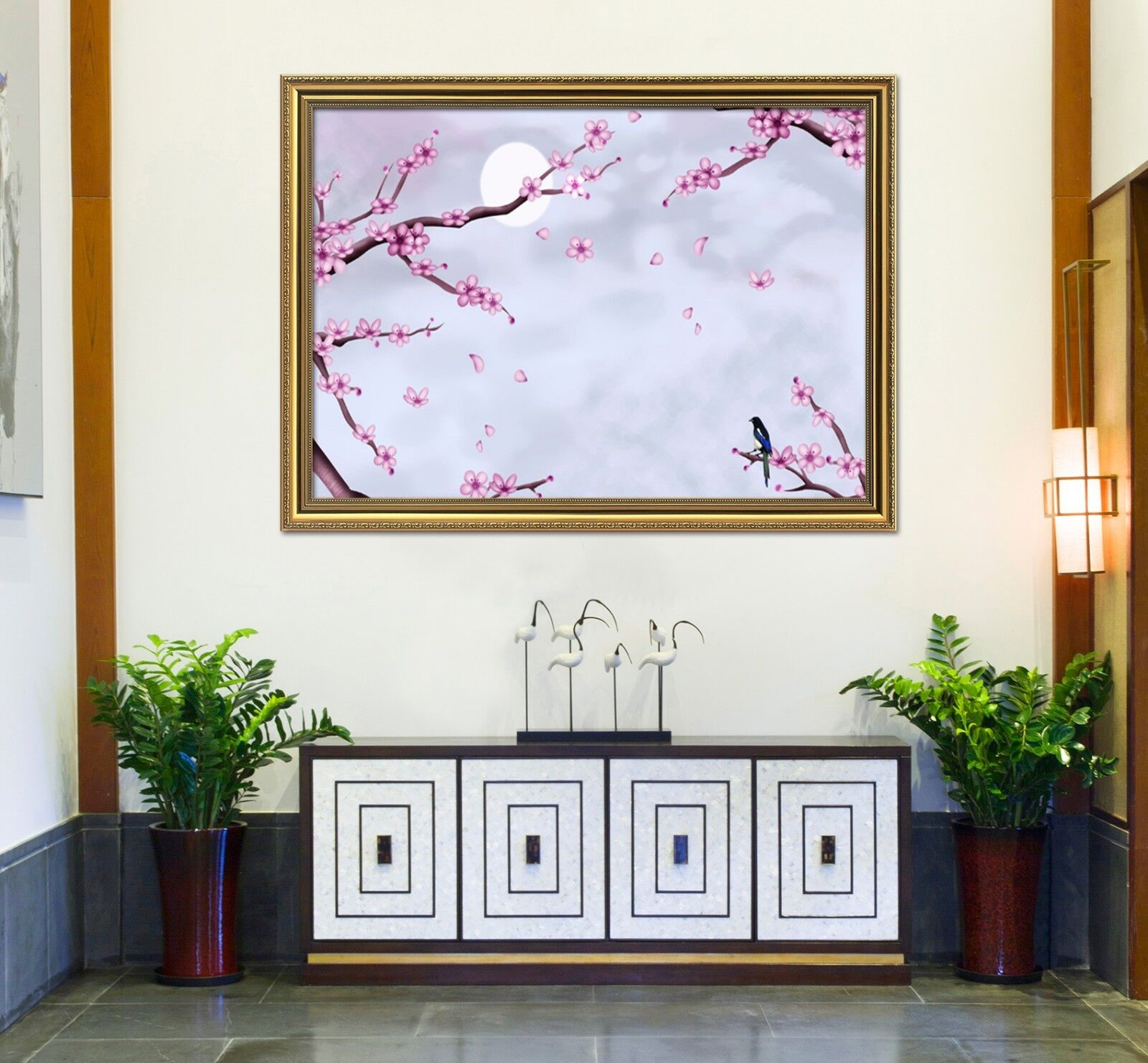3D  Moon Petals Tree 33 Framed Poster Home Decor Drucken Painting Kunst AJ WandPapier