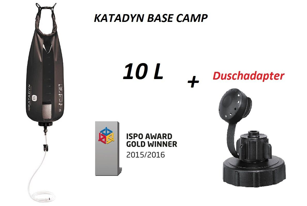 katadyn Base Camp Pro 10 + L + 10 adaptador de ducha 27140 NUEVO Outdoor Filtro 624652