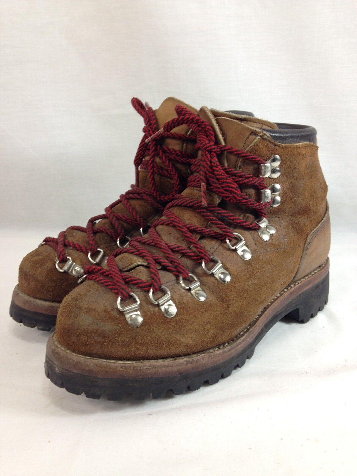 prezzi eccellenti VTG Dexter Mountaineering Mountaineering Mountaineering stivali Uomo 7.5 M Marrone Suede Leather USA  acquisti online