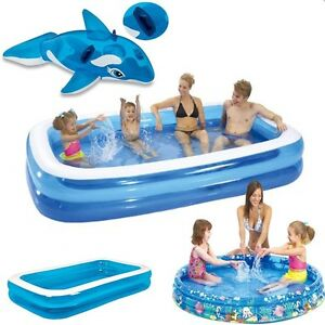 Outdoor inflatable swimming paddling pool garden family for Inflatable family swimming pool