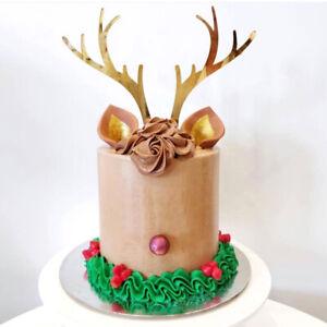 Groovy Merry Christmas Acrylic Deer Elk Antlers Happy Birthday Cake Birthday Cards Printable Inklcafe Filternl