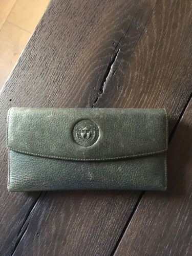 Vintage Stamped Autograph Gianni Versace Trifold W