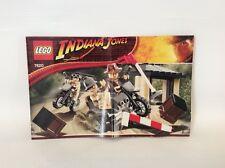 Lego Indiana Jones 7620 * Instruction Manual Only