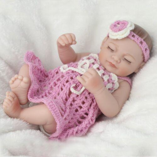 """Xmas Gift Baby 10/"""" Girl Reborn Dolls Full Silicone Vinyl Newborn Doll Washable"""