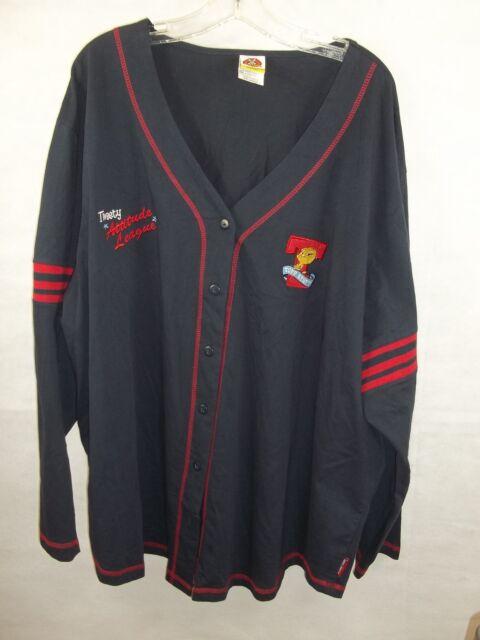 Women s Looney Tunes Tweety Attitude League Jersey Shirt Navy Plus Size 4X  26 28 b80d52465