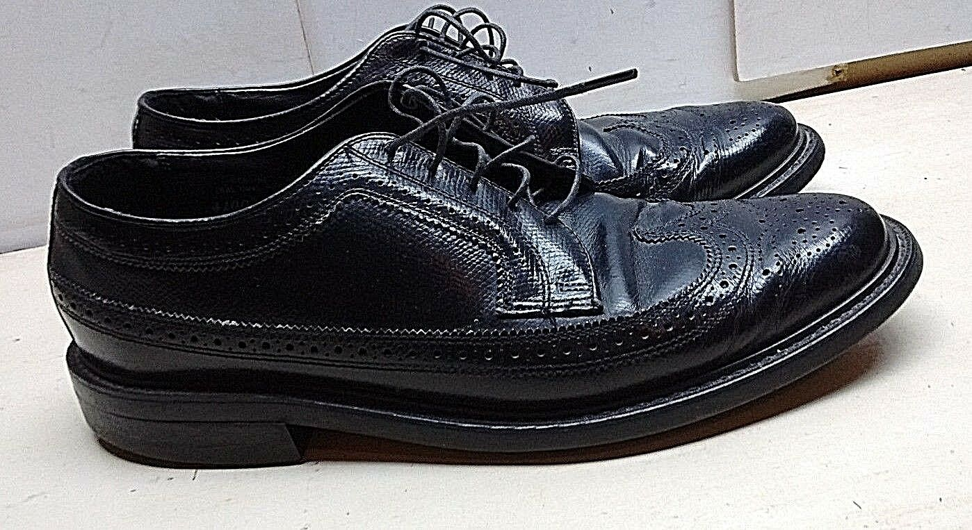 consegna e reso gratuiti Stuart Stuart Stuart McGuire Uomo nero Pebbled Leather Oxfords Wingtip Lace Up Dress scarpe 10M  i nuovi marchi outlet online