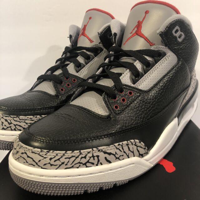 cozy fresh e8da2 4088d 2011 Nike Air Jordan 3 III Retro Black varsity Red Cement Grey 136064-010  sz 10