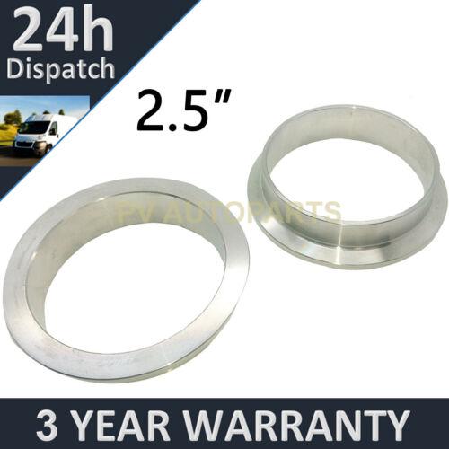 """V-BAND clamp in acciaio inox tubo di scarico Turbo Flange di ricambio 2.5/"""" 63.5mm"""
