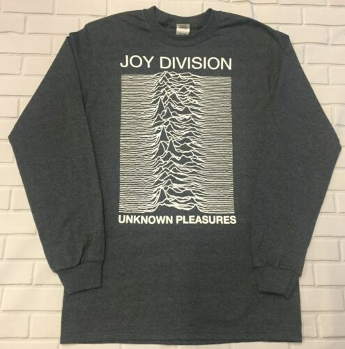 Joy Division Unknown Pleasures Longsleeve  /'Dark Heather Grey/' T-Shirt