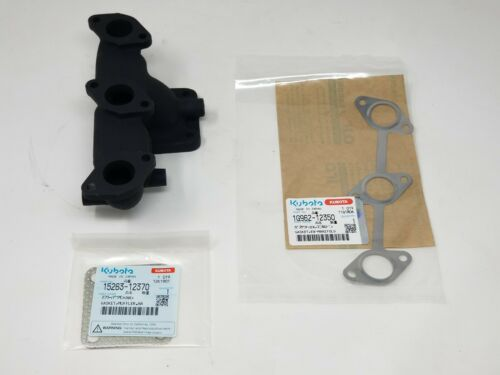 Genuine OEM Kubota Exhaust Manifold w// Gaskets EG511-12310 1G962-12350