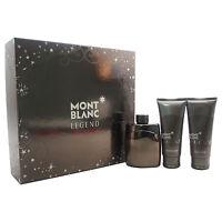 Mont Blanc Legend Intense 3.3 Oz Edt Mens Cologne+ 3.3 After Shave+ Gel Set on sale
