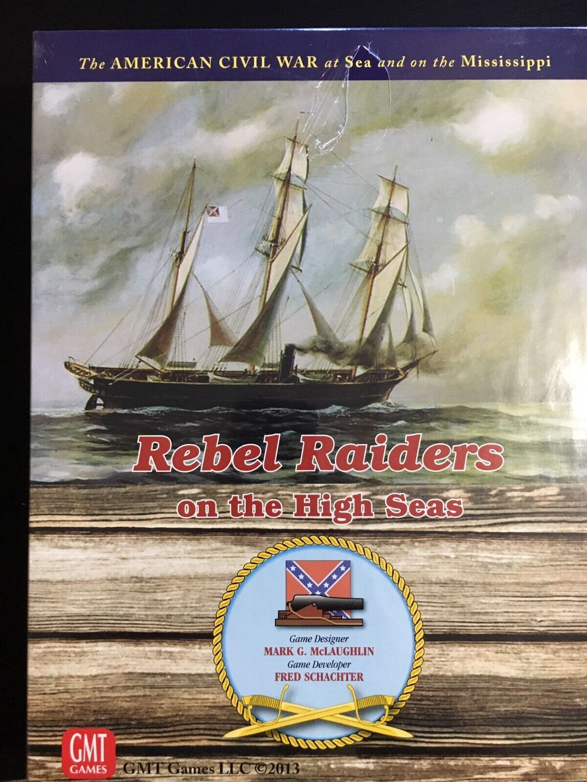 GMT Wargame Rebel Raiders on the High Seas Box SW New (slight tear in sw)