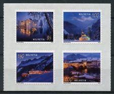 Switzerland 2018 MNH Christmas 4v S/A Set Architecture Tourism Landscapes Stamps
