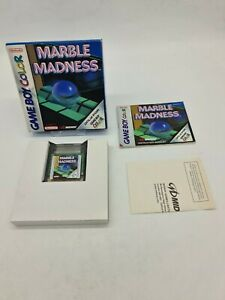 NEUF RARE MARBLE MADNESS NINTENDO Gameboy Game boy COLOR Boxed boite OVP EUR