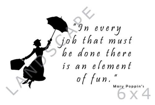 Mary Poppin en cada puesto de trabajo divertido citar Kids Print-Varios Tamaños-Idea de Regalo
