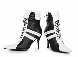 Black-White-Sexy-Referee-Soccer-Player-Sneaker-Boots-Heels-Halloween-Costume