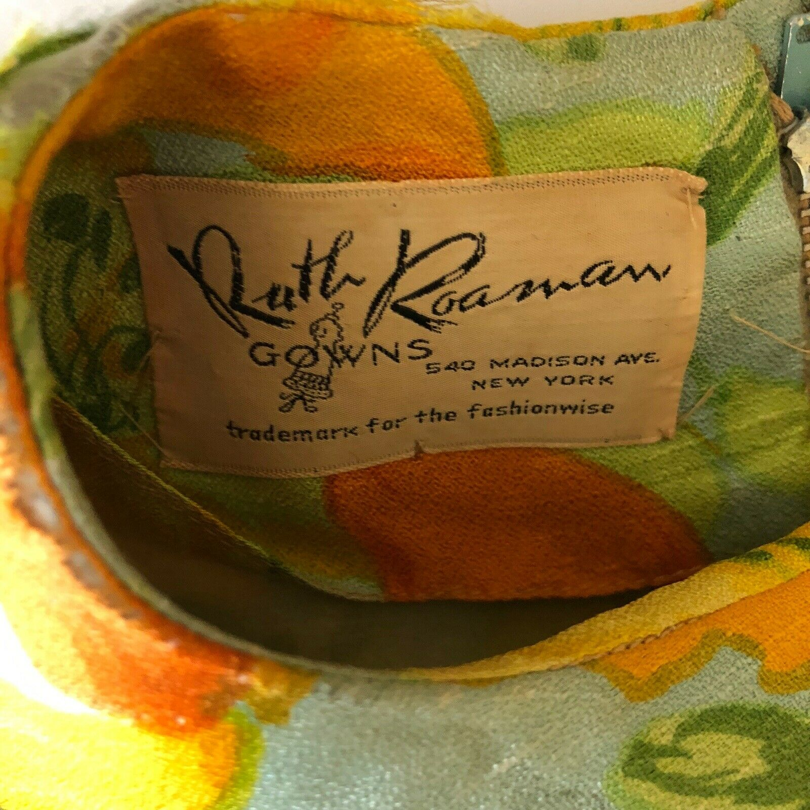 Scaasi Boutique Ruth Roaman Vintage1960s  Bold Fl… - image 8