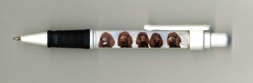 Irish Water Spaniel Dog Design Retractable Acrylic Ball Pen by paws2print