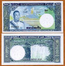 Lao / Laos, Kingdom, 200 Kip, ND (1963), P-13 (13b), UNC