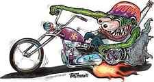 Monster Biker Fink Sticker Decal Art Von Franco VF32 Roth Like